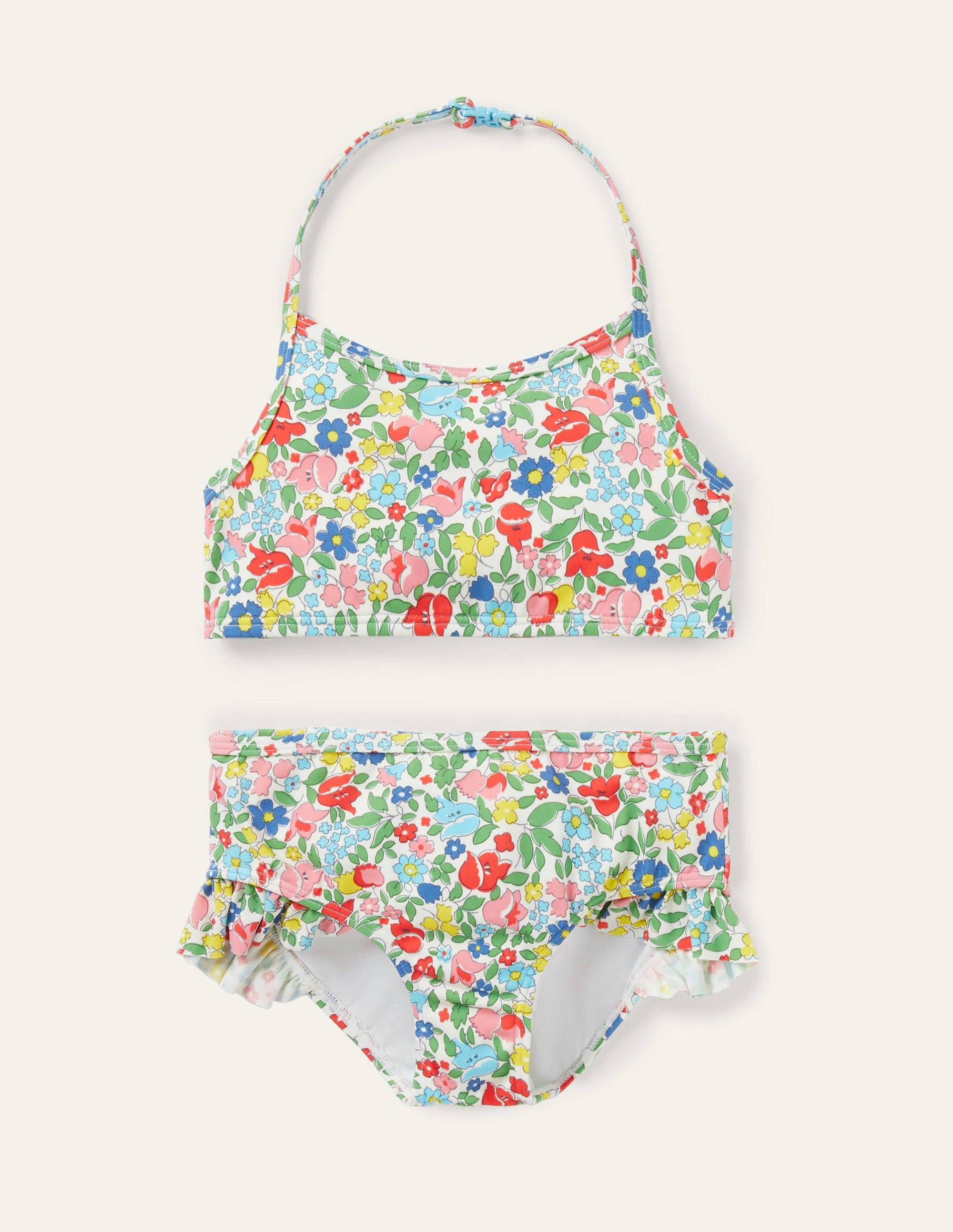 Boden Halterneck Bikini - Multi Vintage Ditsy Floral