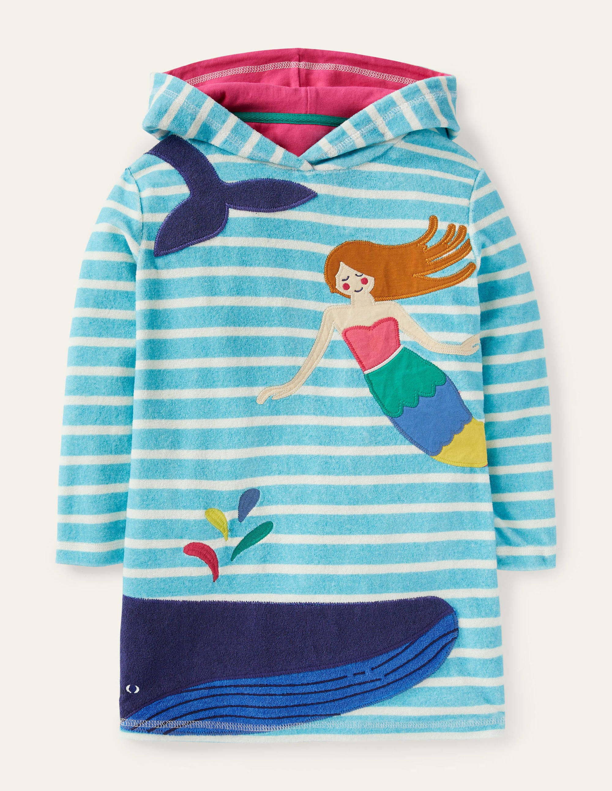 New Untagged Florence and Fred Girls Towelling Hooded Beach Shorts Suit Ages 2-5