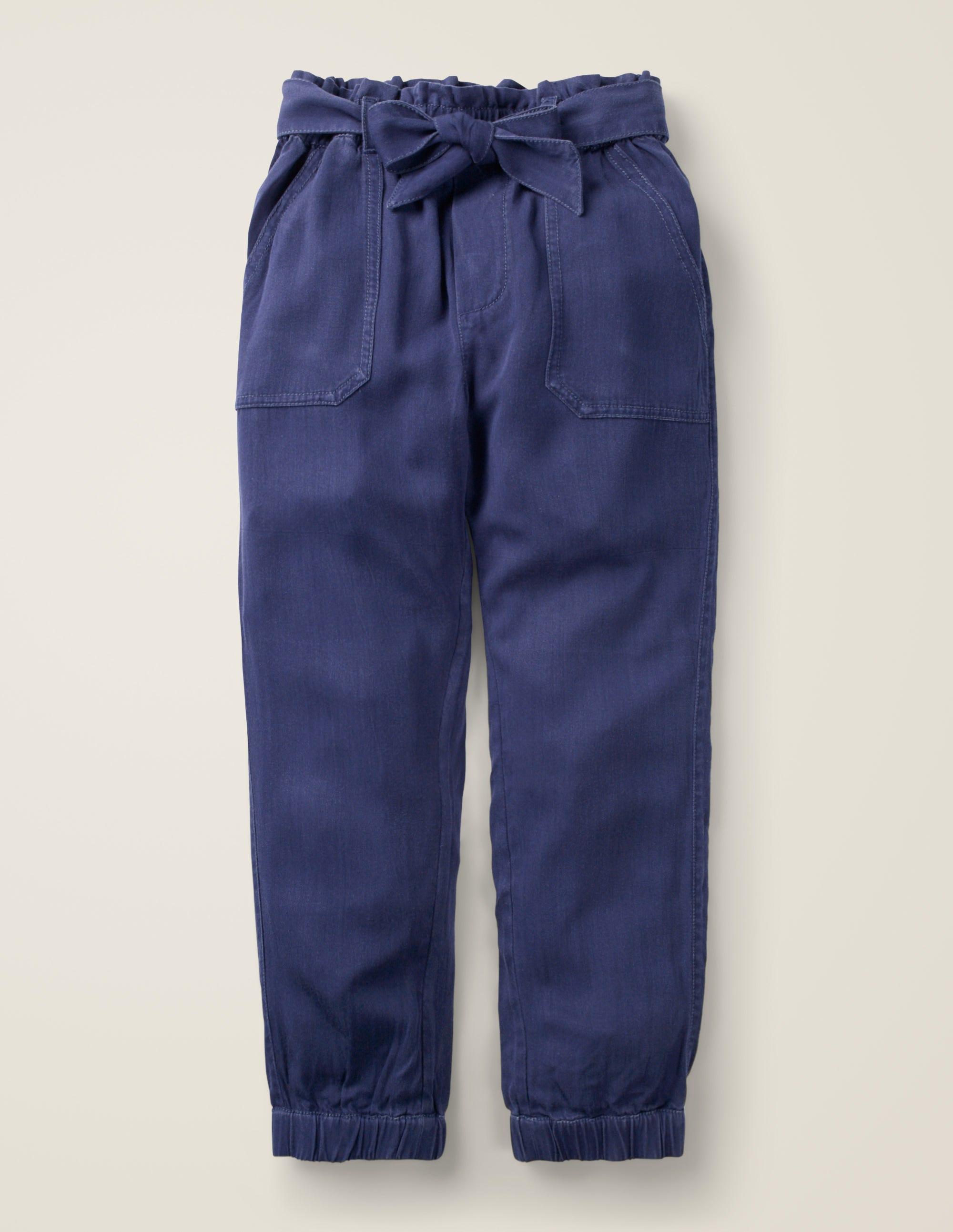 Boden Tie-waist Pants - College Navy