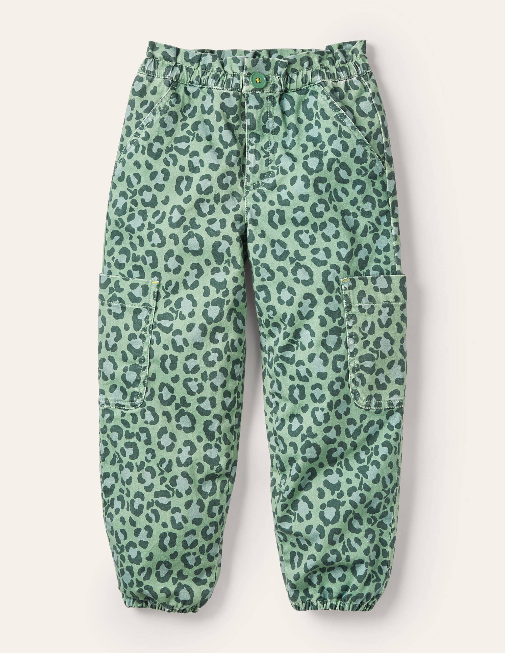 Boden Utility Pull On Pants - Rosemary Green Leopard