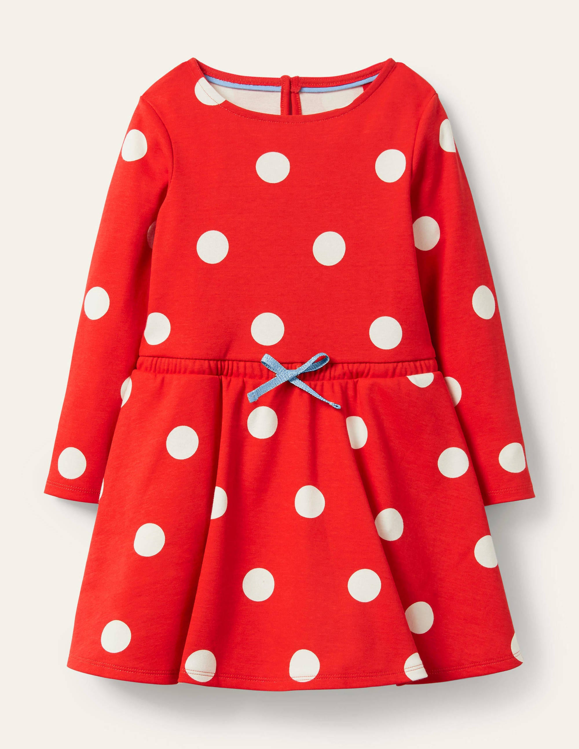 Boden Spotty Skater Dress - Fire Red Spot