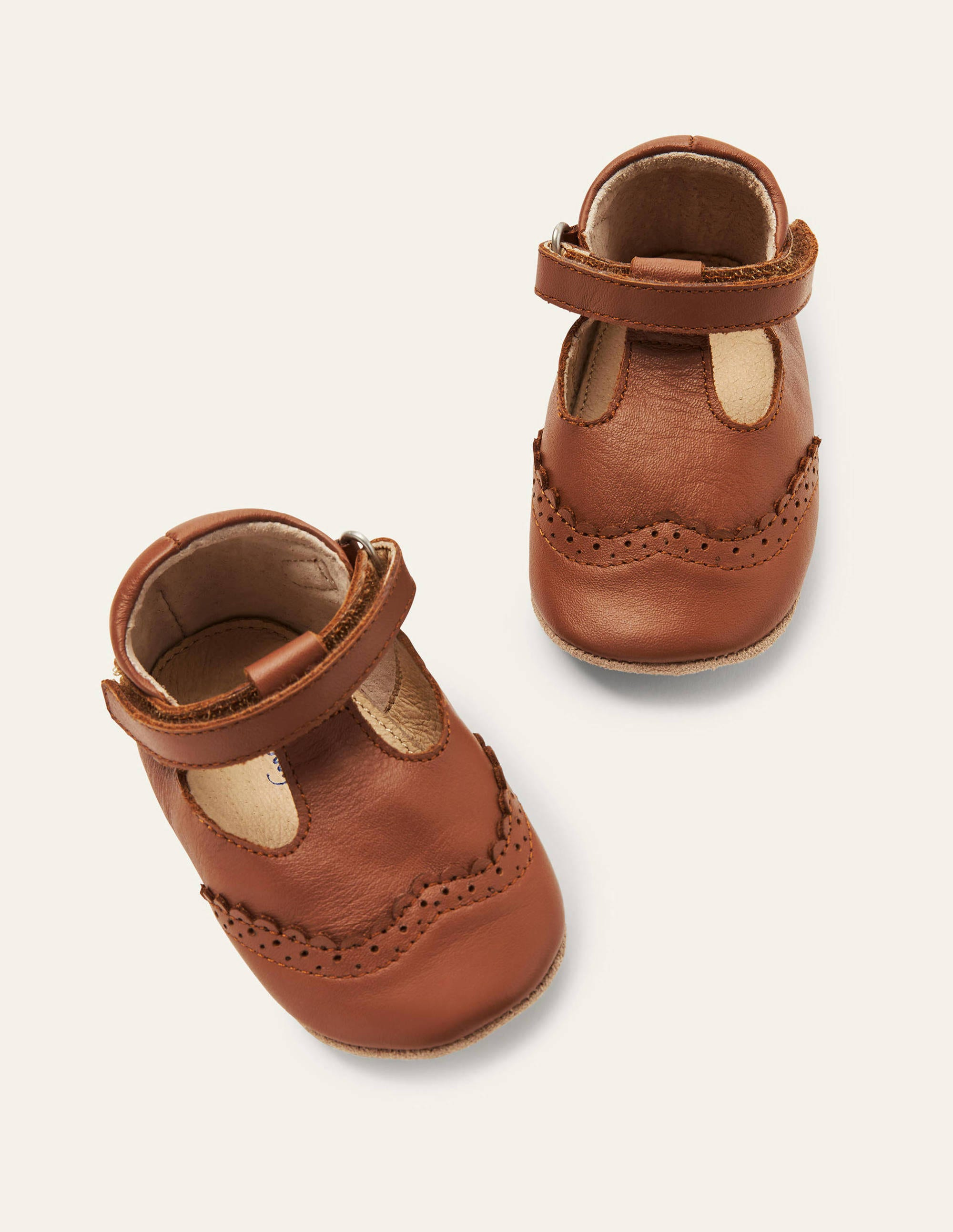Boden Leather Baby Shoes - Tan
