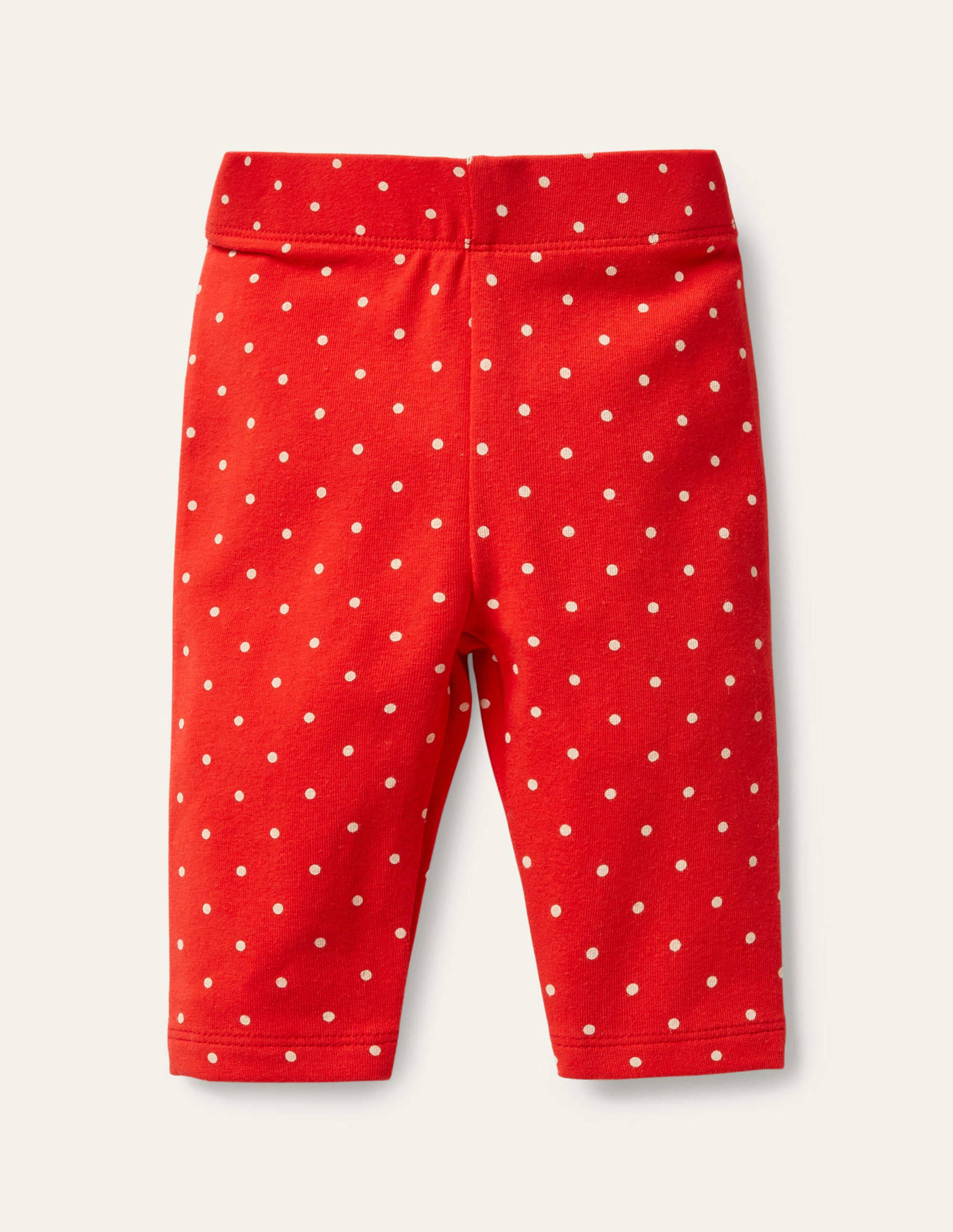 Boden Printed Leggings - Strawberry Tart Pin Spot