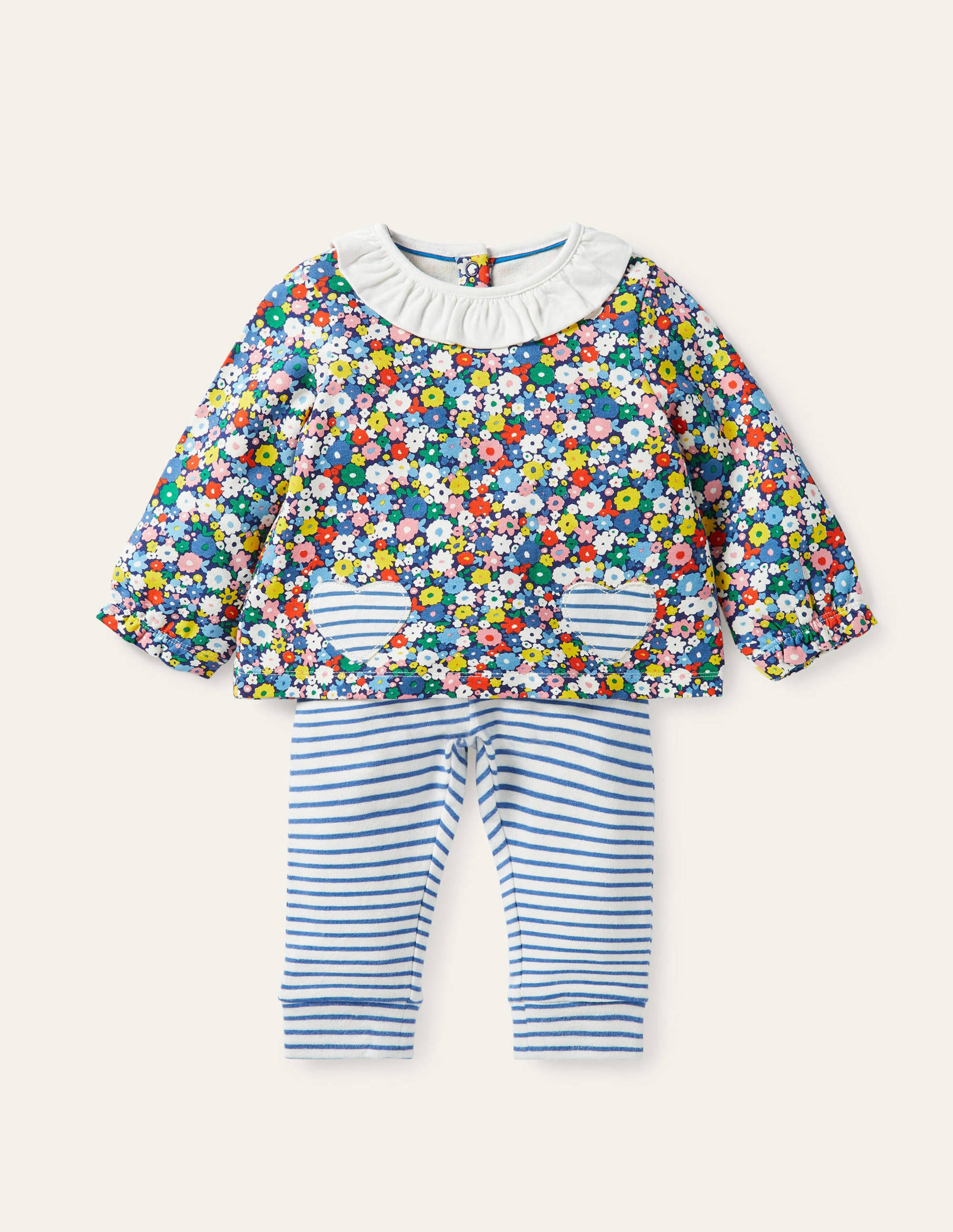 Boden Supersoft Jersey Play Set - Multi Flower Patch