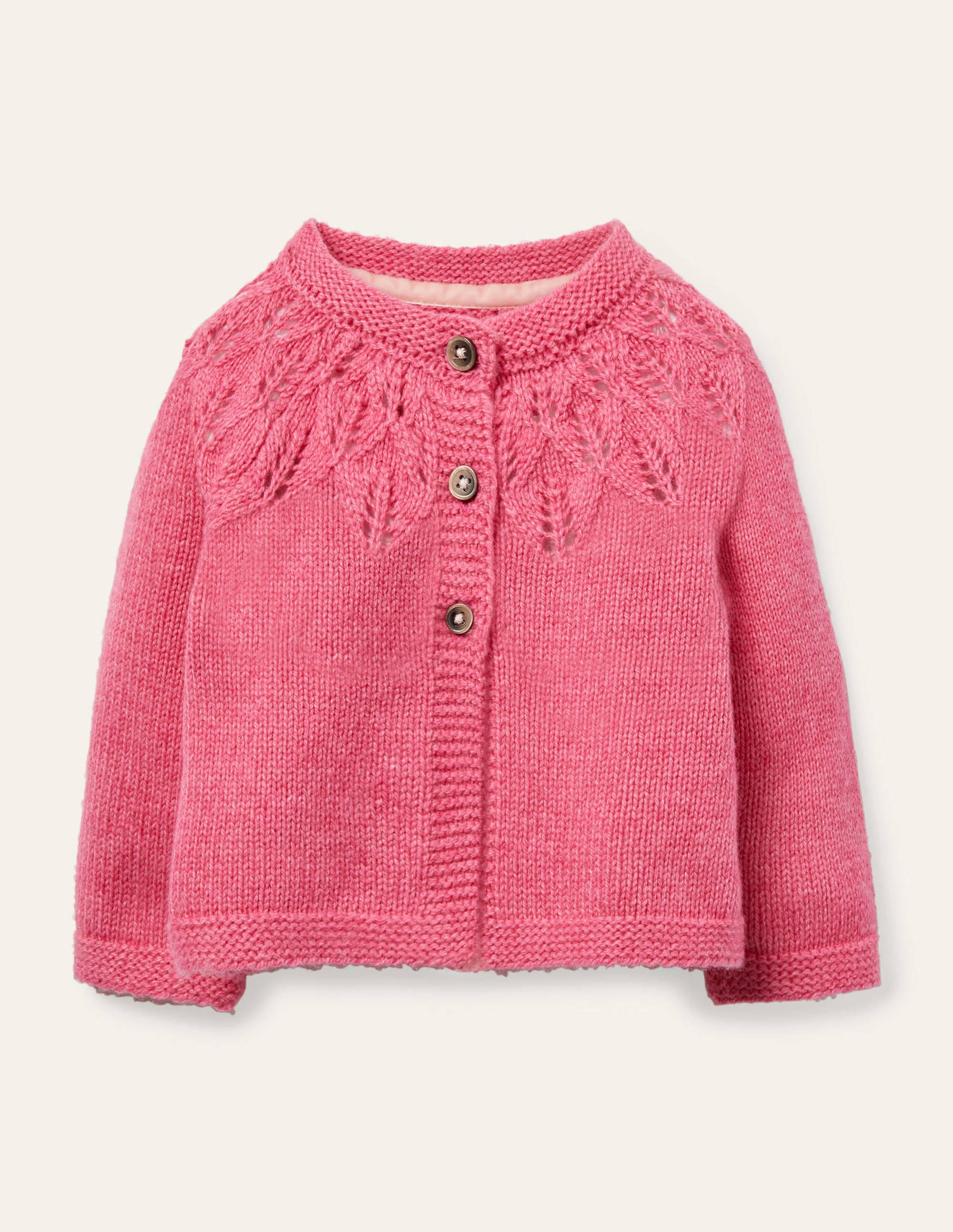 Boden Everyday Textured Cardigan - Cosmos Pink