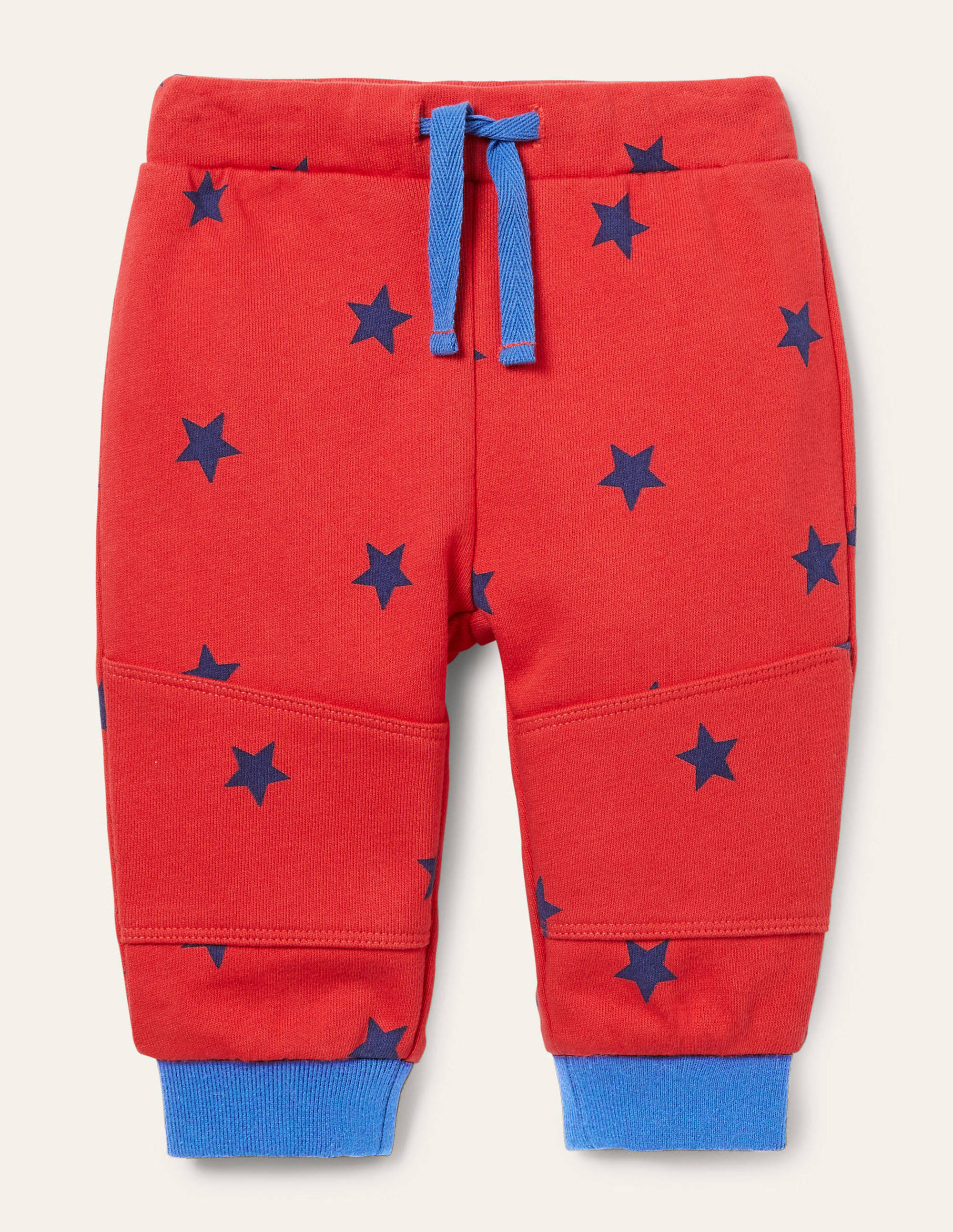 Boden Warrior Knee Jersey Bottoms - Cherry Tomato Stars