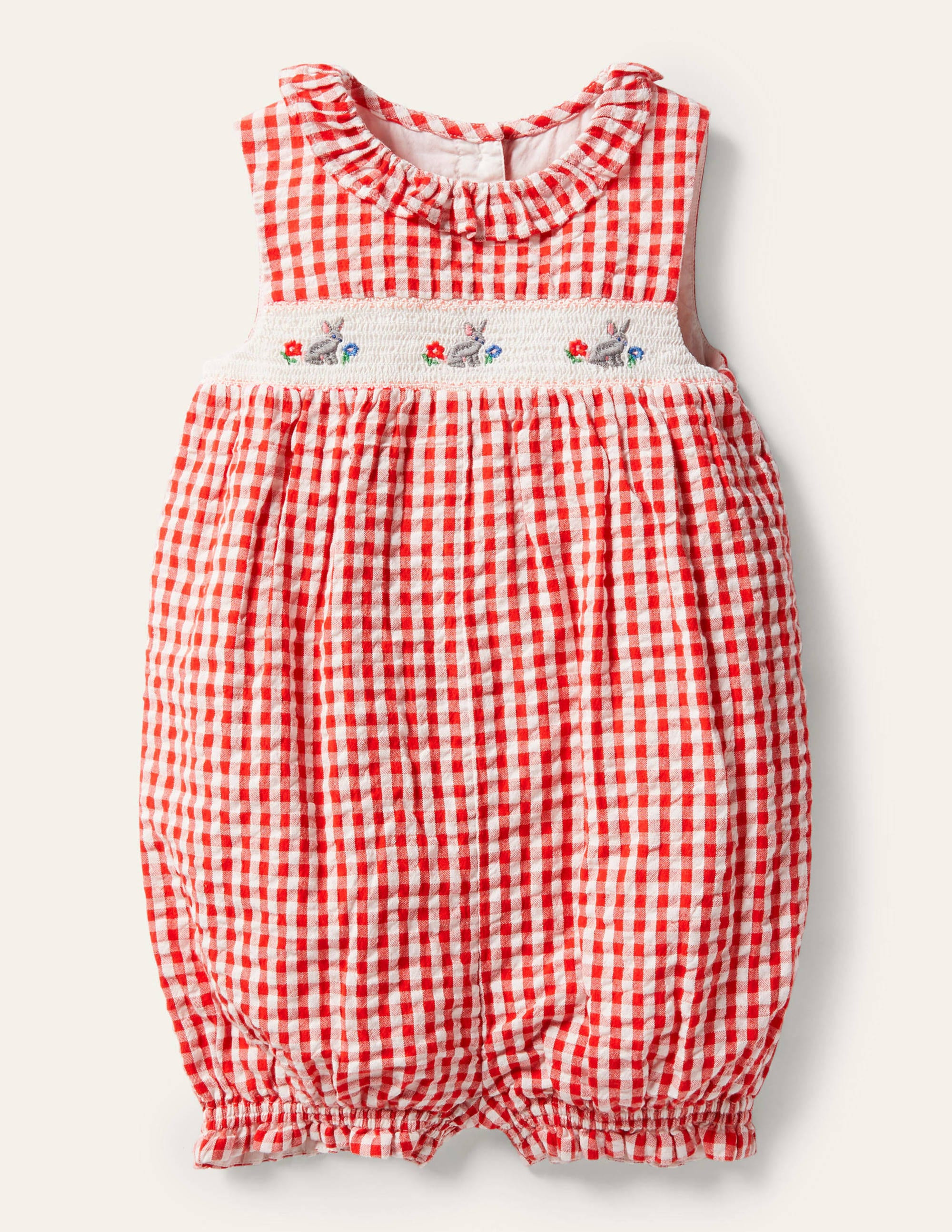 Vintage 1970s tiered gingham check strawberry skirt