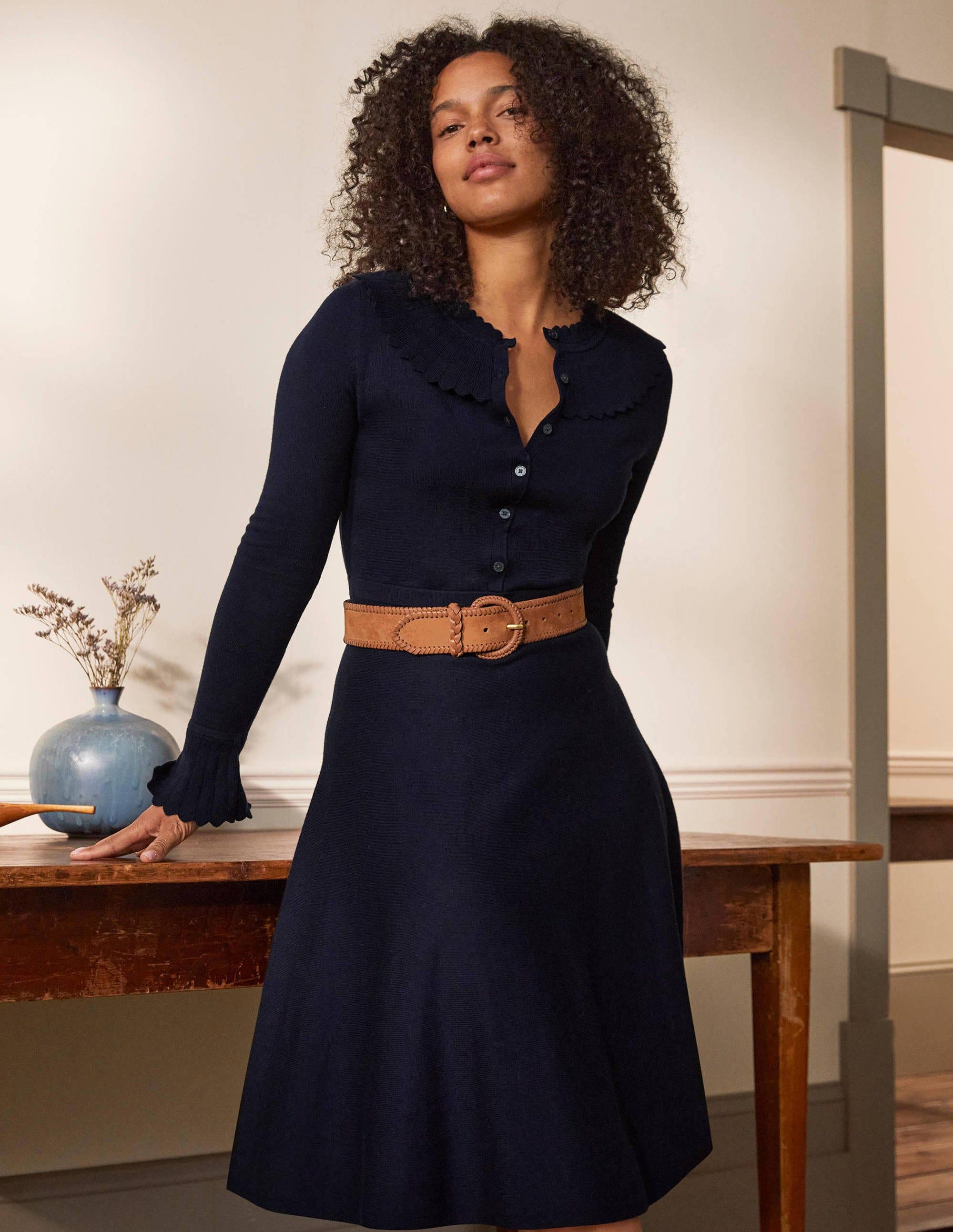 Boden Abercorn Knitted Dress - Navy