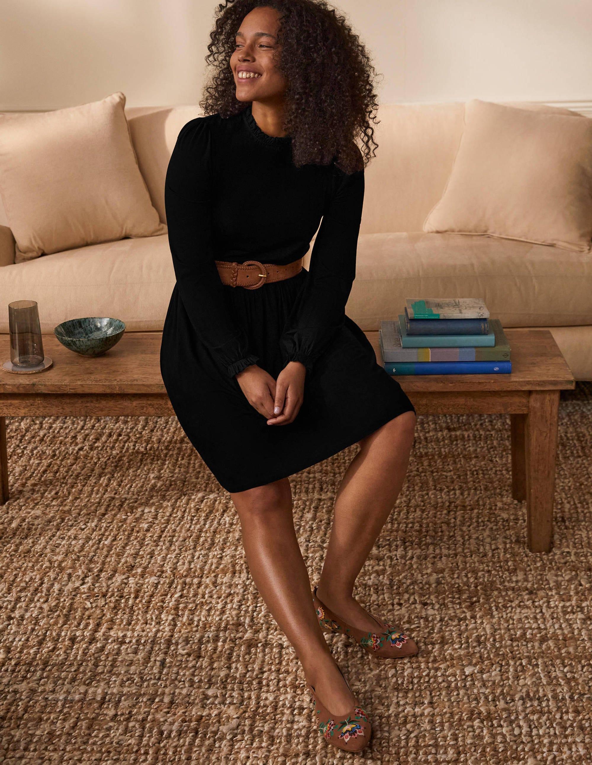 Boden Clara Jersey Dress - Black