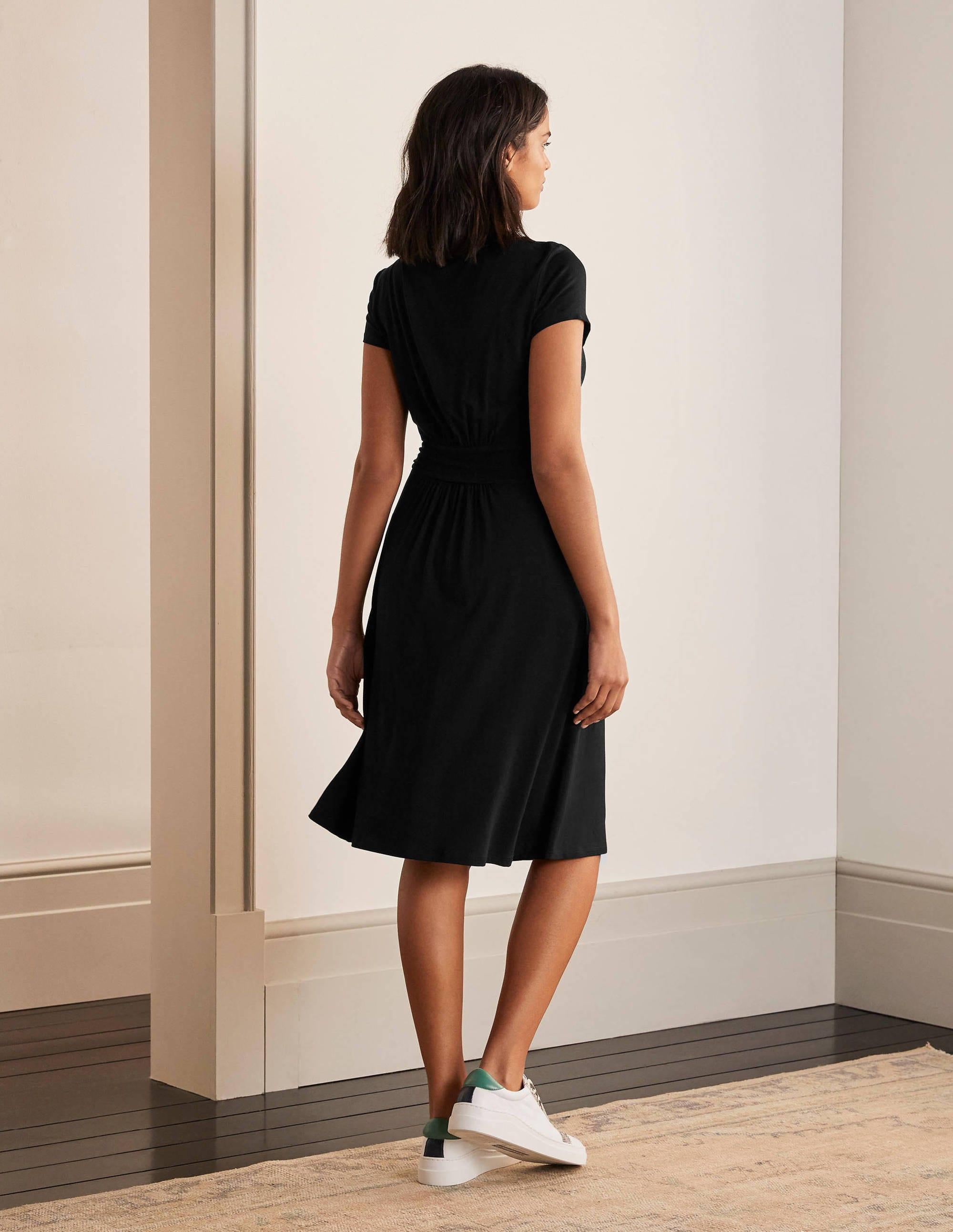 amelie jerseykleid - schwarz
