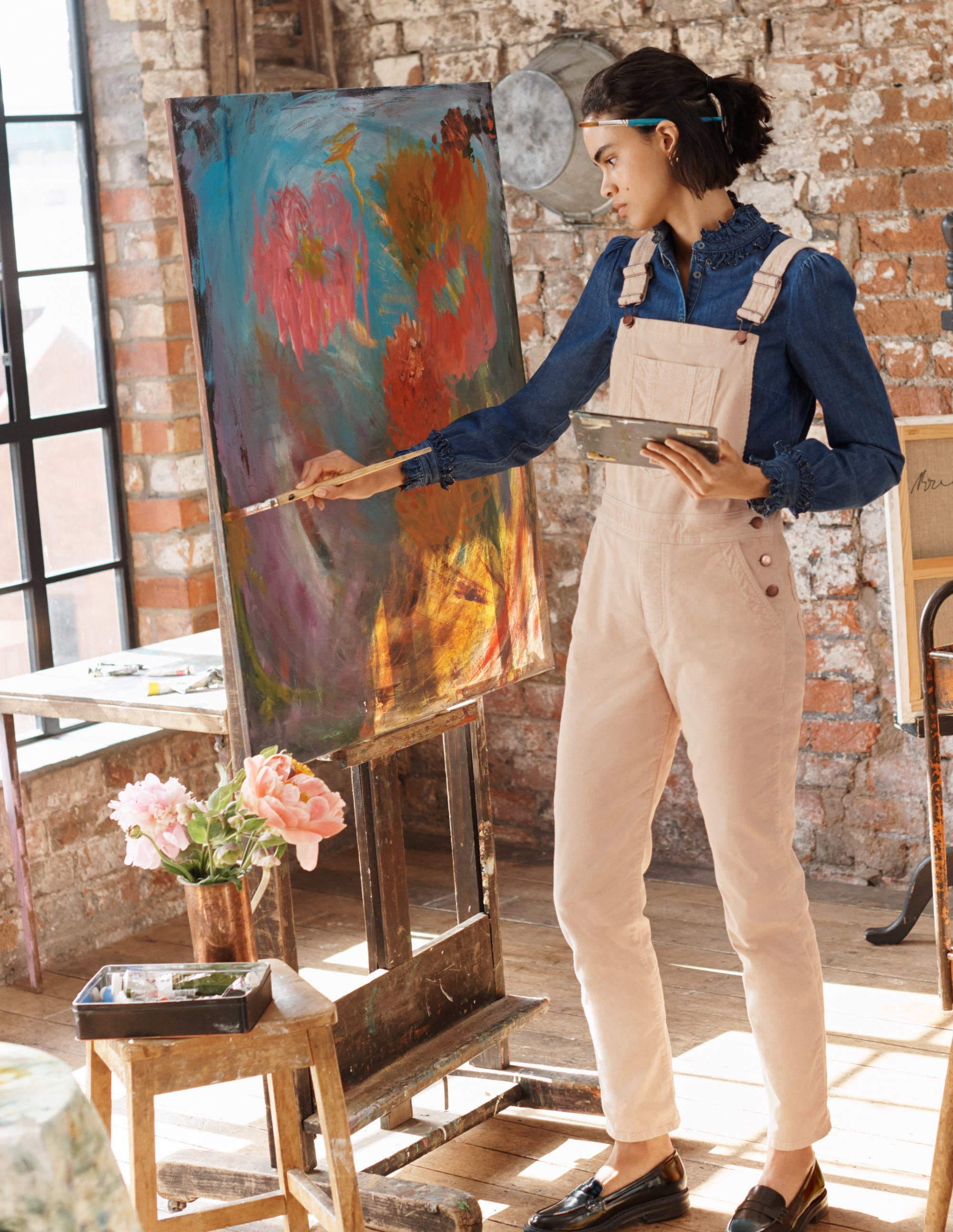 Boden Girlfriend Overalls - Rope Cord