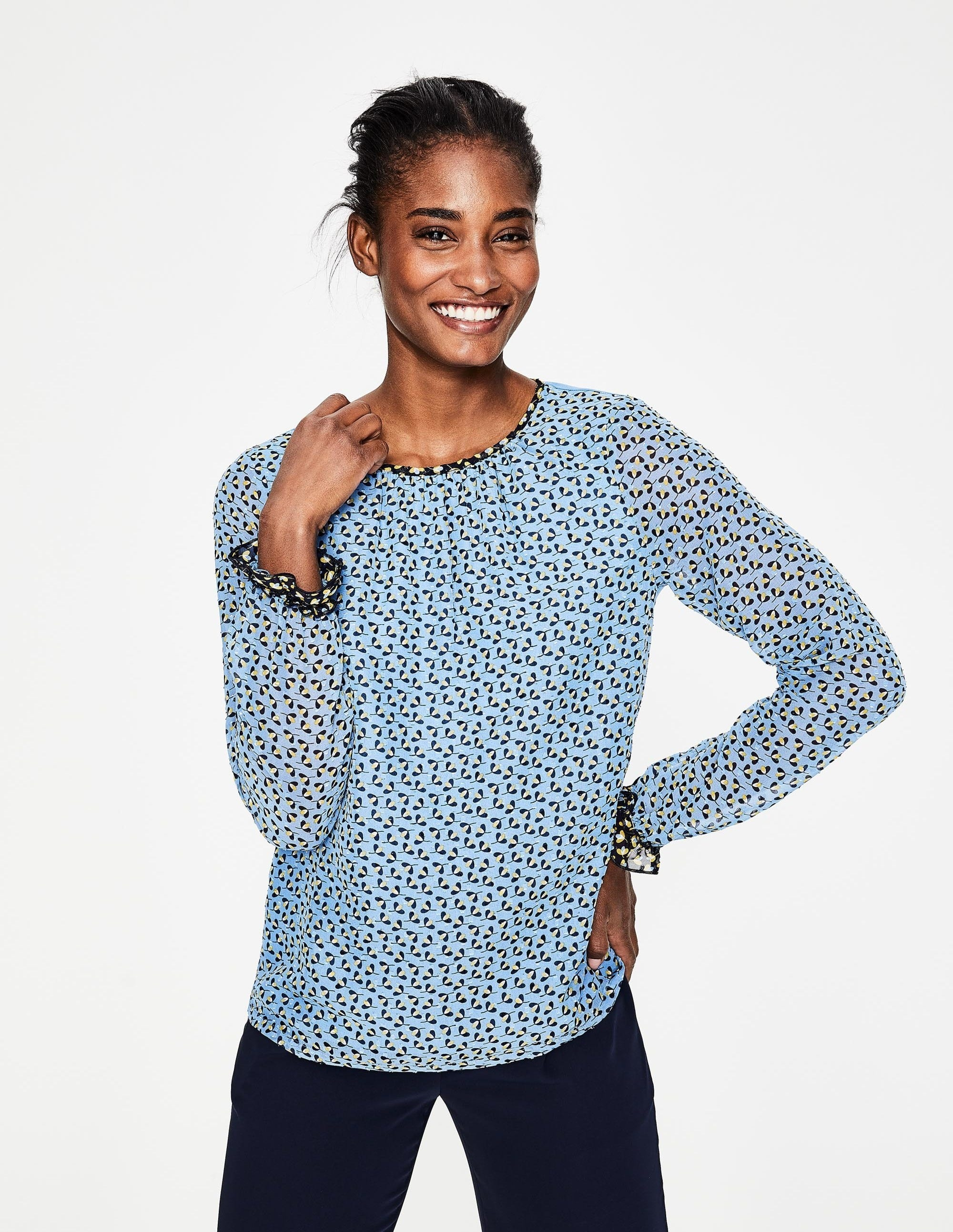 2bc6ad252d Shop Ruffle Sleeves Tops for Women - Obsessory